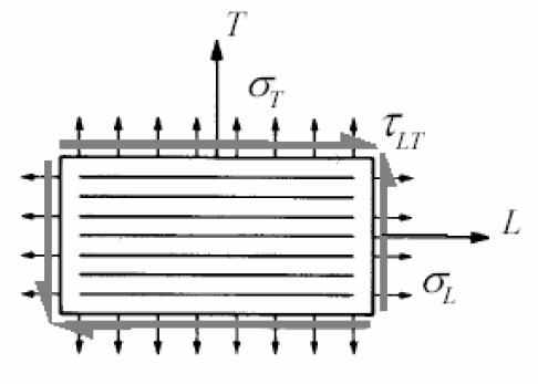 Figure3 - Scheme of the loaded orthotropic plate.